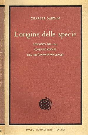 L'ORIGINE DELLE SPECIE ABBOZZO DEL 1842. COMUNICAZIONE: CHARLES DARWIN