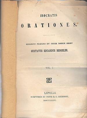 Isocrates Orationes: Gustavus Eduardus Benseler