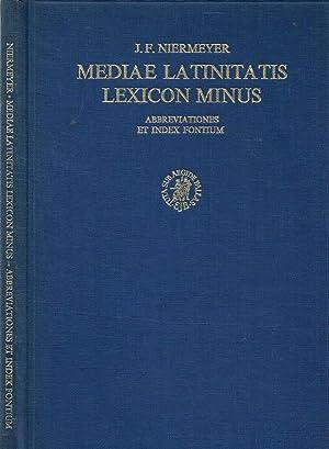 MEDIAE LATINITATIS LEXICON MINUS LEXIQUE LATIN MEDIEVAL-FRANCAIS/ANGLAIS,: J.F.NIERMEYER