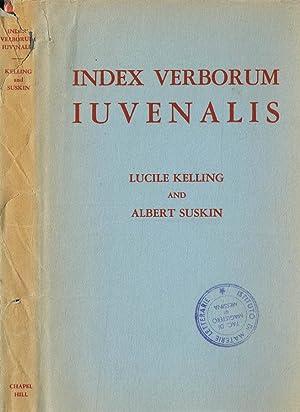 INDEX VERBORUM IUVENALIS: LUCILE KELLING, ALBERT