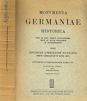 MONUMENTA GERMANIAE HISTORICA tomus XV INDE AB: AA.VV