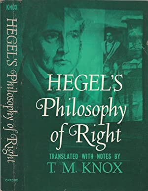 Hegel's Philosophy of Right: T. M. Knox,