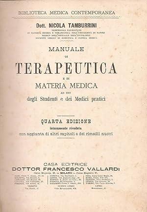 Manuale di Terapeutica e di Materia Medica: Nicola Tamburrini