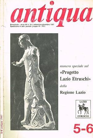 ANTIQUA ANNO XII N.5-6 PUBBLICAZIONE BIMESTRALE DELL'ARCHEOCLUB: ETTORE FELICIANI direttore