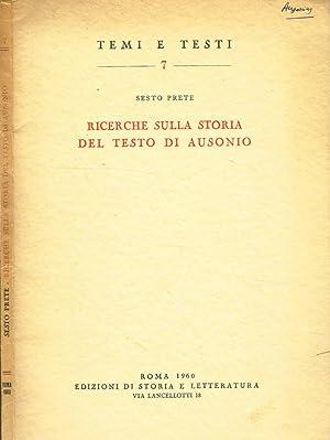 RICERCHE SULLA STORIA DEL TESTO DI AUSONIO: SESTO PRETE