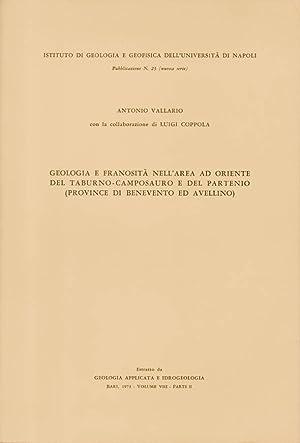 Geologia e franosità nell'area ad oriente del: Antonio Vallario, autore,
