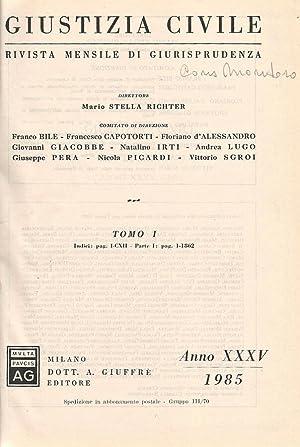 Giustizia Civile Vol. 1 Rivista mensile di: AA.VV.
