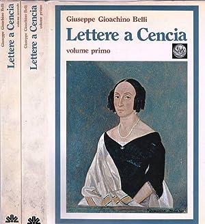 LETTERE A CENCIA Vincenza Perozzi Roberti: Giuseppe Gioacchino Belli