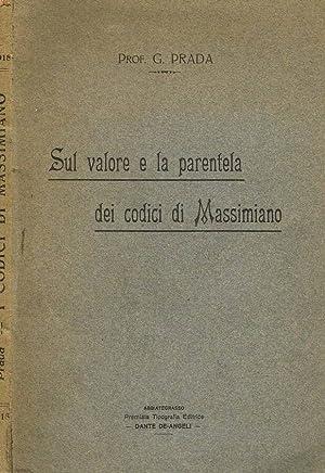 SUL VALORE E LA PARENTELA DEI CODICI: G.PRADA