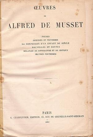 Ouvres de Alfred de Musset poésies, comédies: Alfred De Musset