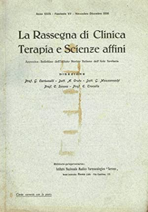 LA RASSEGNA DI CLINICA TERAPIA E SCIENZE: AA.VV