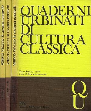 QUADERNI URBINATI DI CULTURA CLASSICA n.s. vol.: BRUNO GENTILI direttore