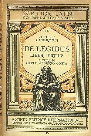 DE LEGIBUS LIBER TERTIUM: M.TULLII CICERONIS
