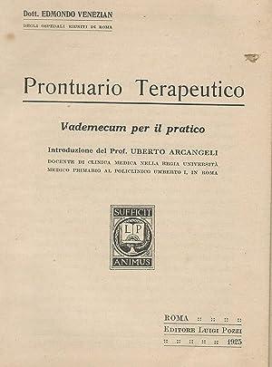 PRONTUARIO TERAPEUTICO VADEMECUM PER IL PRATICO: EDMONDO VENEZIAN