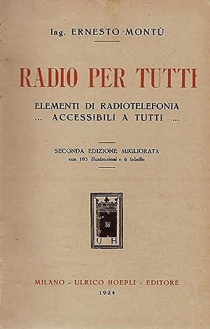 Radio per tutti Elementi di radiotelefonia accessibili: Ernesto Montù