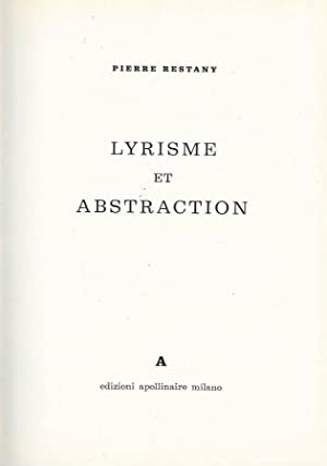 LYRISME ET ABSTRACTION