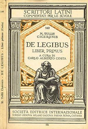 DE LEGIBUS LIBER PRIMUS: M.TULLII CICERONIS