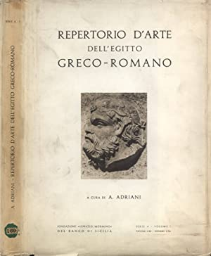 Repertorio d' arte dell' Egitto greco -: Achille Adriani