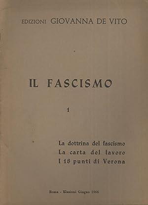 lidentita fascista progetto politico e dottrina del fascismo