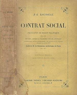 Contrat social ou principes du droit politique: J.-J. Rousseau