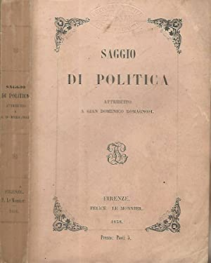 Saggio di politica attribuito a Gian Domenico Romagnosi
