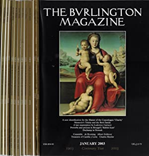 The Burlington Magazine Anno 2003 (annata completa 12 numeri)