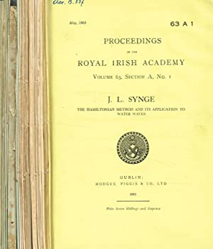 Proceedings of the Royal Irish Academy. Vol.63. Serie A (Mathematical, astronomical and physical ...