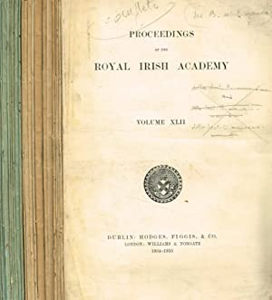 Proceedings of the Royal Irish Academy. Vol.XLII. Serie A (Mathematical, astronomical and physica...