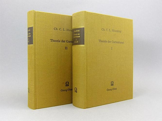 Theorie der Gartenkunst. 5 Bände in 2: Hirschfeld, Christian Cay