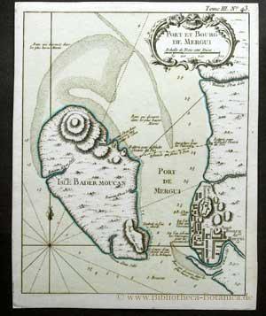 Port et Bourg de Mergui.: Bellin, Jacques Nicolas: