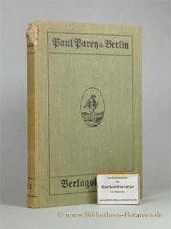 Verlagskatalog von Paul Parey. Verlagsbuchhandlung für Landwirtschaft, Gartenbau u. Forstwesen in ...