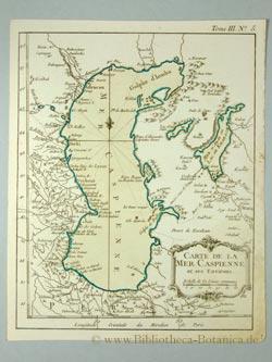 Carte de la Mer Caspienne et ses: Bellin, Jacques Nicolas: