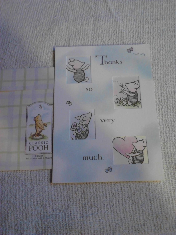 Winnie the poohs piglet die cut thank you greeting card by milne winnie the poohs piglet die cut thank you greeting card milne m4hsunfo