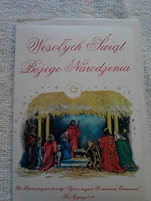 Polish Language Christmas Greeting Card: Alfred Mainzer
