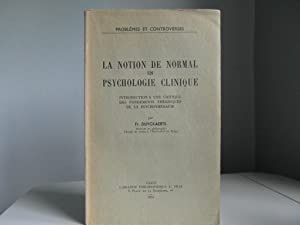 La notion de normal en psychologie clinique