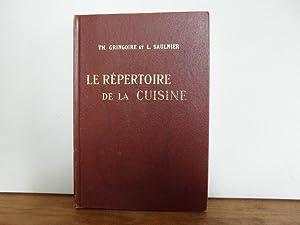 Le repertoire de la cuisine by saulnier abebooks for Repertoire de la cuisine