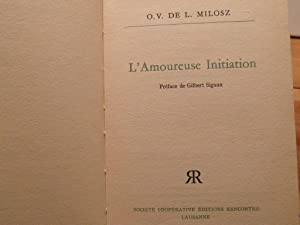 L'Amoureuse initiation: Milosz O.V. de