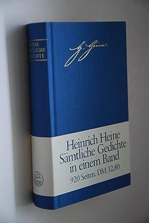 Heinrich Heine Sämtliche Gedichte Zeitlicher Folge Zvab
