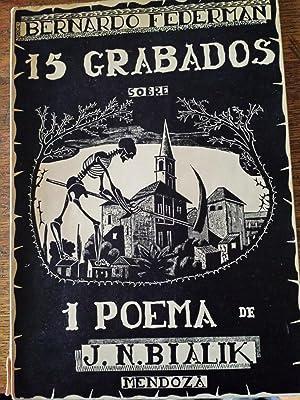 15 Grabados 14 Capitulares Impreso con Tacos Originales sobre el Poema en la Ciudad de la Matanza ...