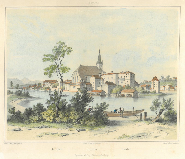 Lithographie von L. Rottmann nach Pezolt bei J. Schoen, 1849, 22 x 28 cm.  Nebehay-Wagner 502,36. - Die schöne Ansicht breitrandig und gut erhalten.