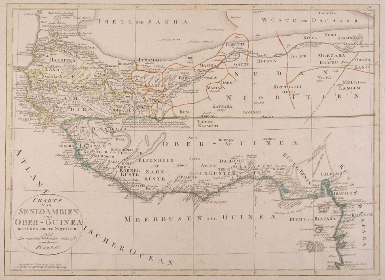 "AFRIKA. - Westafrika. - Karte. ""Charte von"