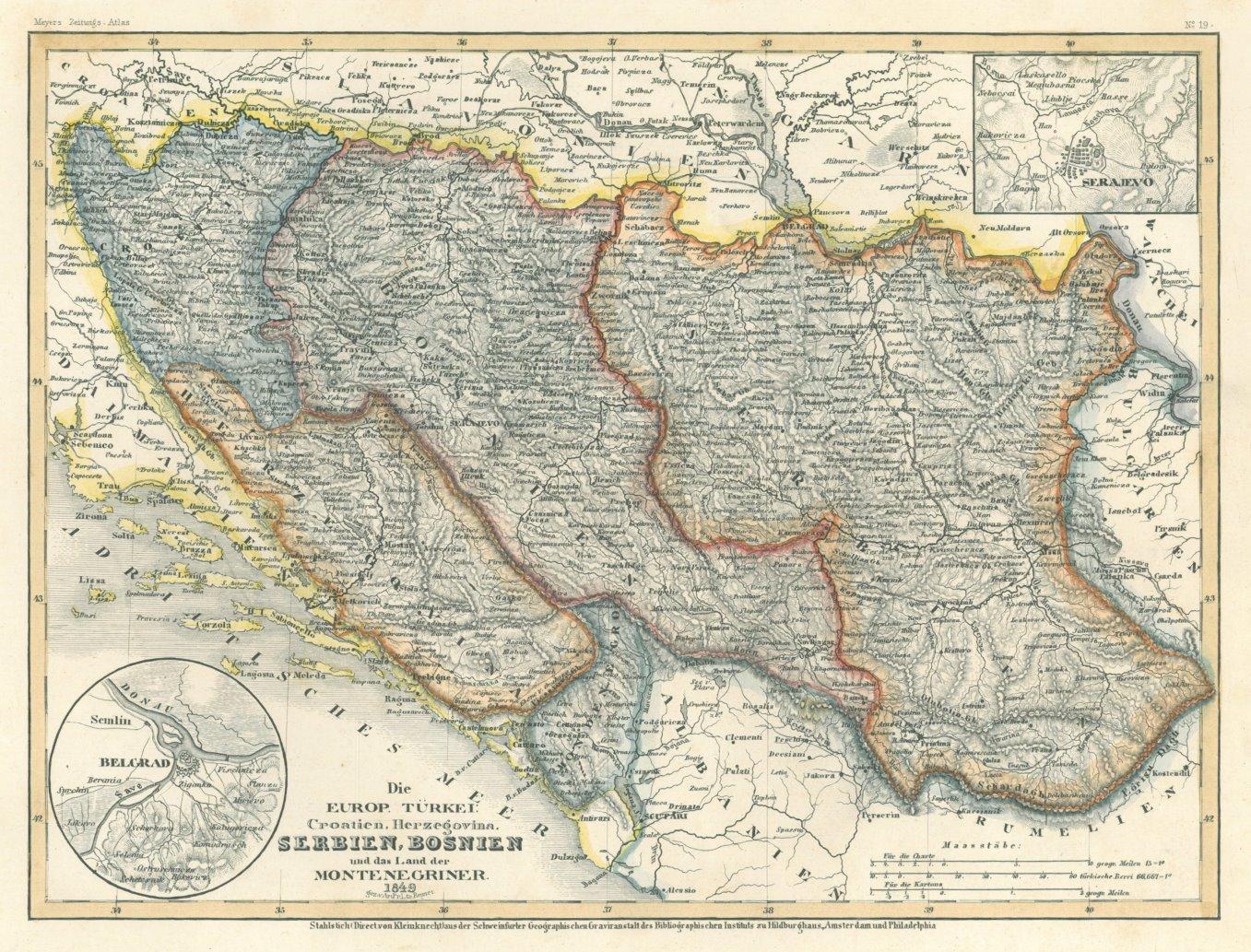 Jugoslawien Karte.Jugoslawien Karte