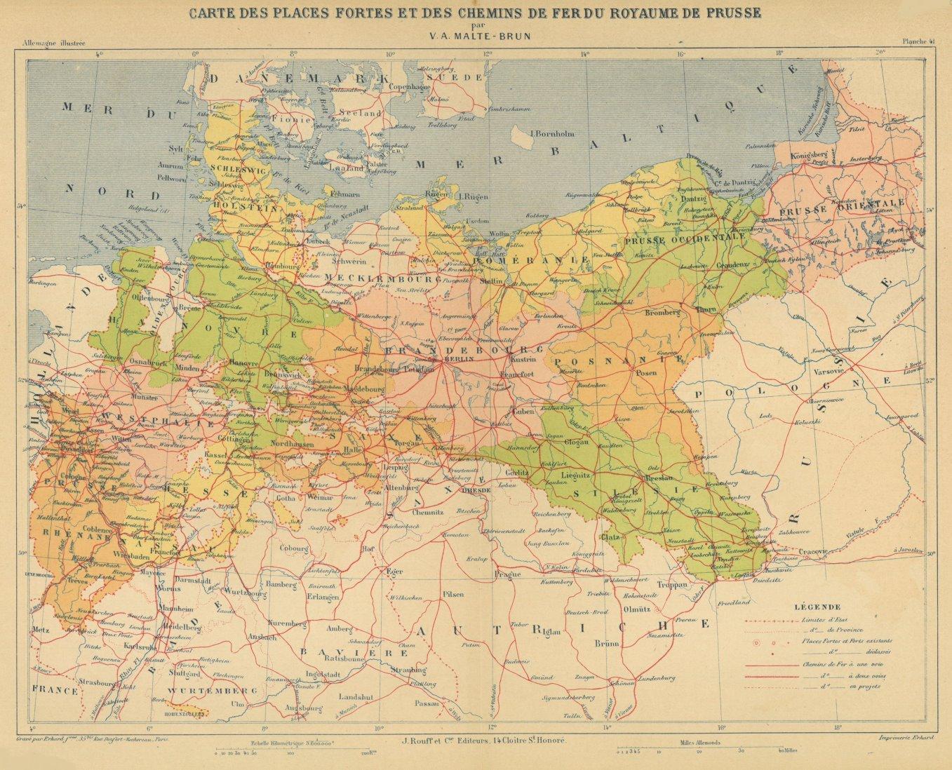Norddeutschland Karte.Deutschland Karte Carte Zvab