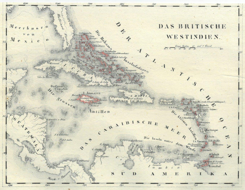 Karibik Karte.Karibik Karte