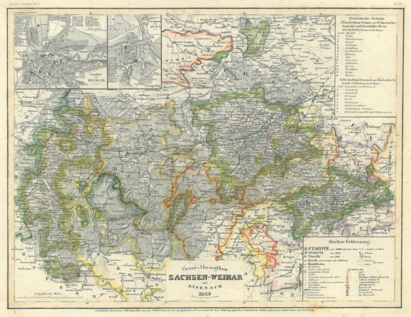 Karte Thüringen.Thüringen Sachsen Karte
