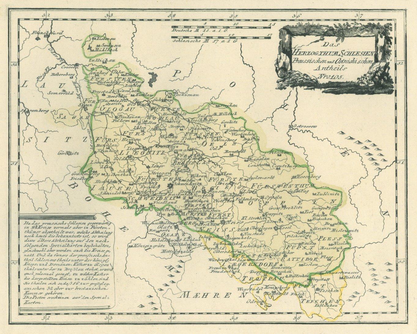 Schlesien Oberschlesien Karte Das Herzogthum Schlesien