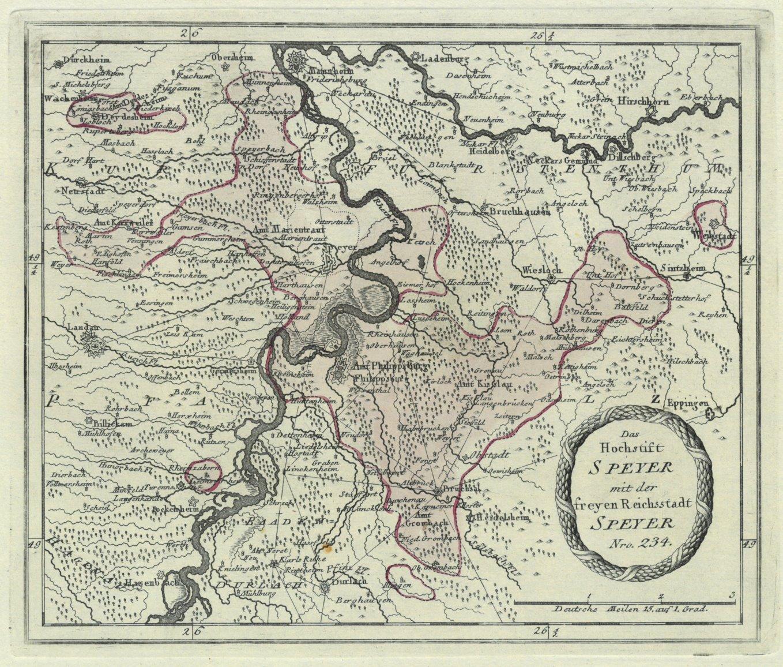 Speyer Karte Das Hochstift Speyer Mit Der Freyen Reichsstadt