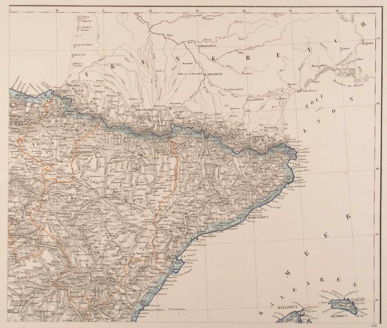 Spanien Karte Küsten.Spanien Nordostspanien Karte Karte