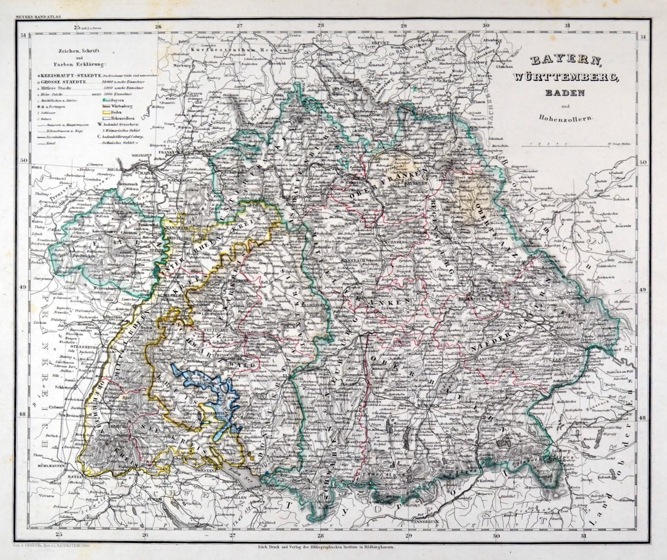 Karte Bayern.Bayern Karte