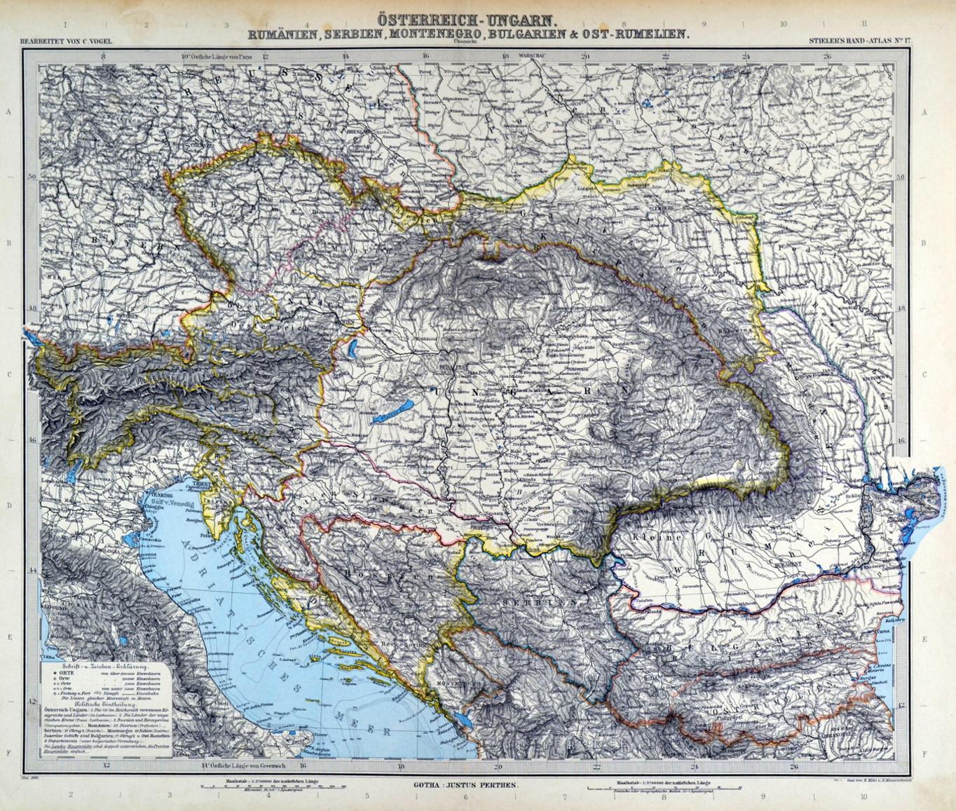 Osterreich Und Ungarn Karte Osterreich Ungarn Rumanien